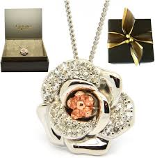 clogau silver welsh 9ct gold moonlight rose pendant rrp 209