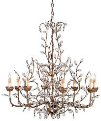 crystal bud aged gold large chandelier