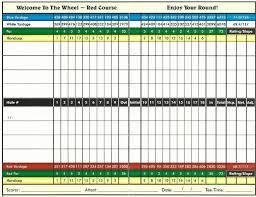 Red Scorecard Golf Books Golf Cover