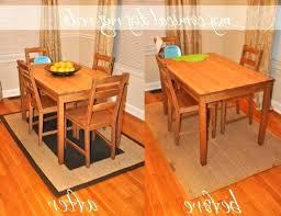 rug under kitchen table round
