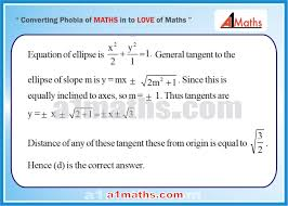 objective solved problems 4 1 ellipse coordinate geometry iit