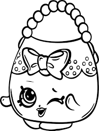 Coloring Pages Shopkins Awesome Shopkins Handbag Free Coloring Page