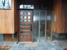 solid wooden front door with glass mesmerizing wooden modern front door with clear glass lite and