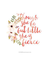 Compelling Though She Be But She Is Fierce Quote Blanket Wallpaper