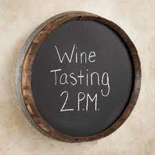 These barrels head are from quality genuine wine barrels. Recycled Wine Barrel Round Wall Chalkboard