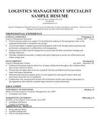 logistics management specialist resume sample resume logistics throughout logistics management specialist resume logistics resume