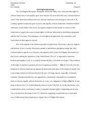 territorial acquisition essay chiandredi johnson u s history ms 4 pages the civil rights movement dbq essay