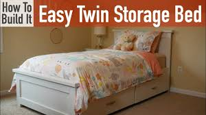 How to build an Easy Twin Bed with Storage - YouTube