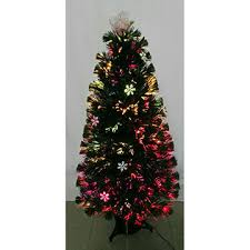 Fiber Optic Halogen Lamp Christmas Tree China 120cm Multi Color Pre-lit with Snow