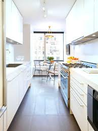 small galley kitchen designs the all white galley contemporary kitchen with small dining space ideal for