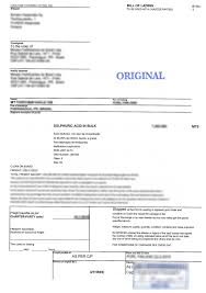 Example Of Bill Of Lading Document Dangerous Goods Declaration Vs Bill Of Lading Imdg Code