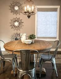 rustic round kitchen table small and chairs