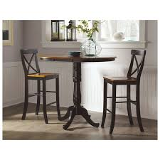 stunning pedestal bar table with build your own pub table cedar hill furniture
