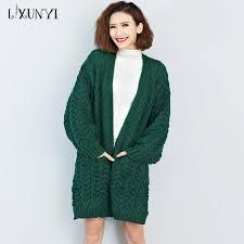 2018 Big Plus Size Sweater Women Long Cardigan 2018 Autumn Winter