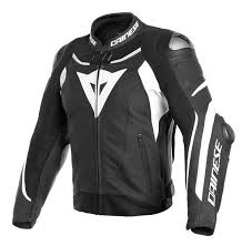 dainese super sd 3 leather jacket black white