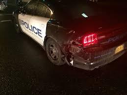 McMinnville police car struck