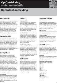 Op Ontdekking Vmbo Werkschrift Docentenhandleiding Pdf