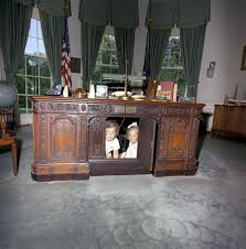 jfk in oval office. Caroline Kennedy And Cousin Kerry Sit Under The President\u0027s Desk In Oval Office - John F. Presidential Library \u0026 Museum. ST-C221-2-63. Jfk H