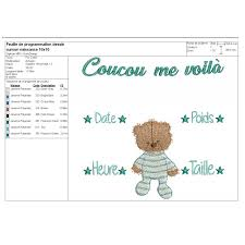 Birth Announcement In Newspaper Embroidery Design Newspaper Birth Announcement