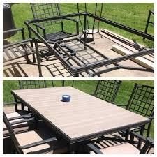 patio table redo diy patio table