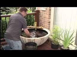 how to build a patio pond indoors or