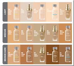 Foundation Match Chart Corrector Makeup L Oreal True Match Foundation Colour Chart