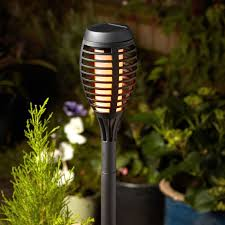 flame torch solar led stake lights