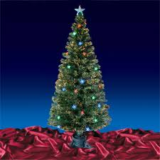 5u0027  6u0027  7u0027 Fiber Optic Artificial Christmas Tree W Multicolor Black Fiber Optic Christmas Tree