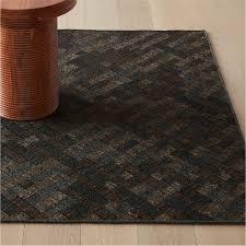 leger black patterned jute rug
