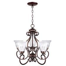 hampton bay bercello estates 5 light volterra bronze chandelier