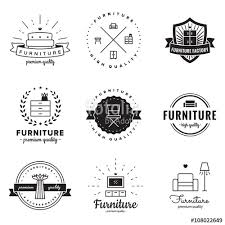vintage furniture logo. Furniture Logo Vintage Vector Set. Hipster And Retro Style. Perfect For Your Business Design F