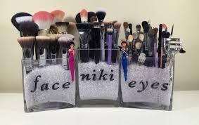 makeup brush holder beads. diy makeup brush storage holder beads