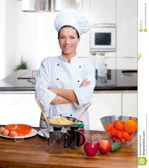 Chef Kitchen Chef Woman Portrait In The Kitchen Stock Photos Image 23037233