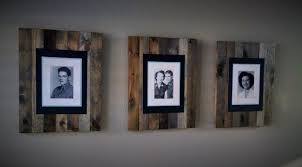 faux reclaimed wood frames the