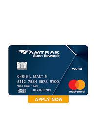 amtrak guest rewards world mastercard
