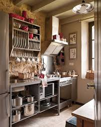 Rustic Country Kitchens Small Rustic Country Kitchen Design With Grey Accents Combined