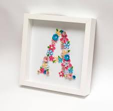 unique framed quilled monogram letter a initials handmade paper on framed monogram letter wall art with unique framed quilled monogram letter a initials handmade paper