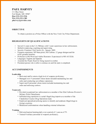 Police Sample Resume Police Sample Resume Cancercells 23