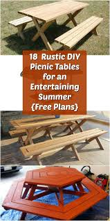 Image Reclaimed Wood Cut The Wood 18 Rustic Diy Picnic Tables For An Entertaining Summer free