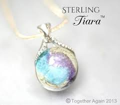 sterling tiara cremation jewelry handmade memory gl lwork bead with your loved one s ashes