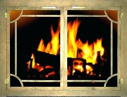 fireplace replacement ir gas parts doors and screens glass