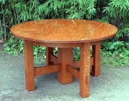 gustav stickley oak stretcher base dining table accurate replica