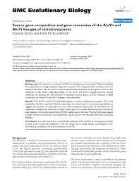 Research Paper Source Source Gene Composition And Gene Conversion Of The Aluyh And Aluyi