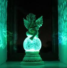 garden ornament angel solar light