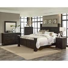 Standard Furniture Stonehill Dark 4 Piece Poster Bedroom Set In Dark Brown  Pecan