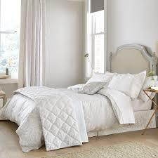 sanderson silver jacquard bedding