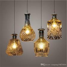 modern minimalist vintage wine bottle pendant lights caferoom bar lamp single glass pendant lamps decoration indoor lighting e27 lantern pendant light