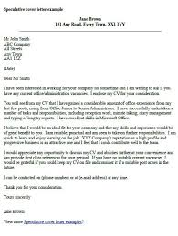 speculative cover letter sample best speculative covering letter examples