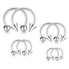 D Bella 8pcs 16g 316l Surgical Steel Mix Size Non Piercing
