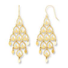 kay chandelier earrings 14k yellow gold